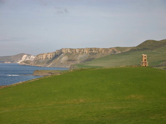Kimmeridge Farmhouse - Clavell Tower and Cliffs